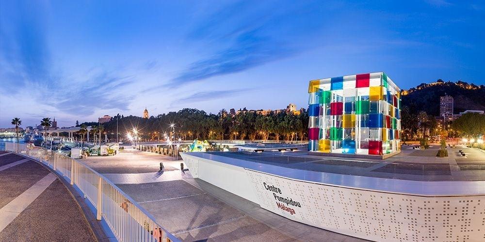 Muelle Uno y Centro Pompidou de Málaga