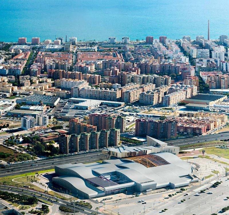 Plano general de Fycma en Málaga