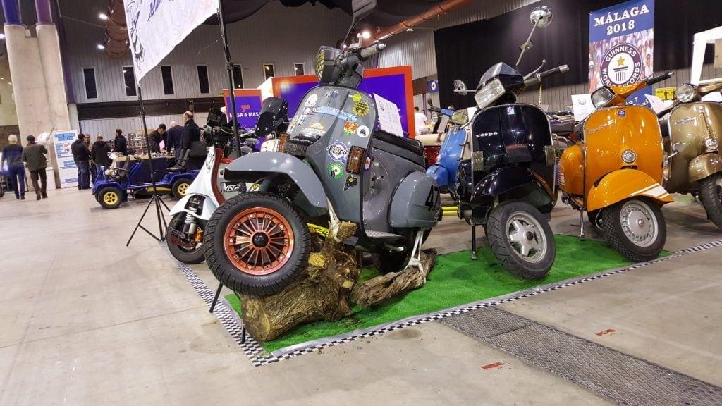 Motos Vespa en la feria retro Auto & Moto