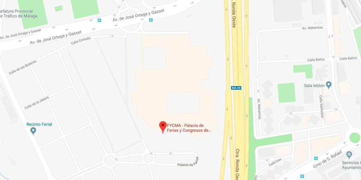 Localización de Fycma en Google Maps