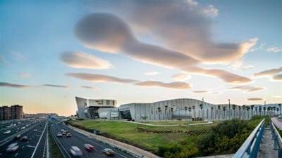 Atardecer en el Palacio de Ferias y Congresos de Málaga - FYCMA