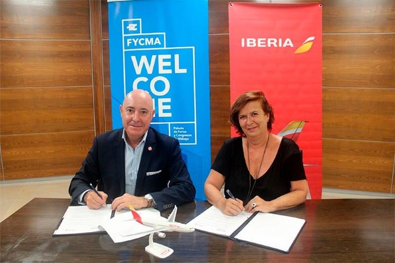 Firma de convenio entre Iberia y FYCMA