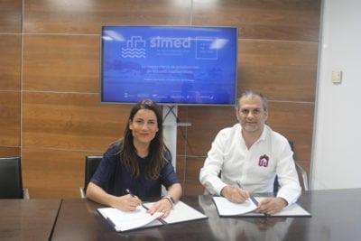 Paula Morales y Alberto García firman el convenio de renovación para la feria SIMed