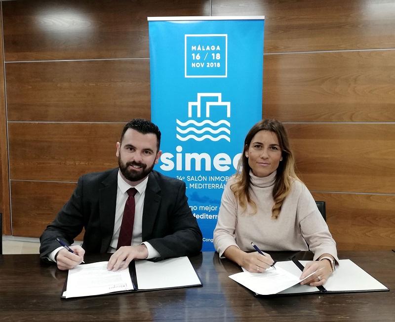 Firma colaboración Cátedra Inmobiliaria y Simed 2018
